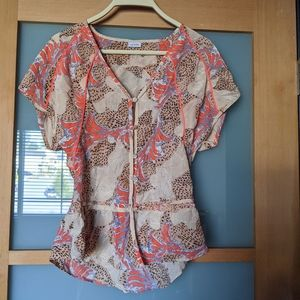 Sass & Bide Silk print top